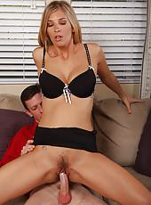 Jordan K gets her mature pussy stuffed full of rock hard cock
