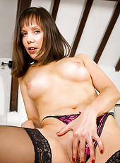 Tight bodied Cindy shows off a perfect and petite mature body in here