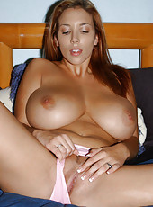Sexy big tittied bikini babe takes everything off and gives us the show of a lifetime