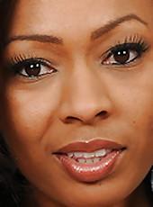 33 year old Ebony MILF Anita Peida slips out of her elegant dress
