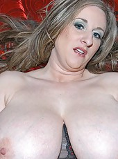 Sexy kitty has the biggest titties ive seen in a while and she loves showing them off