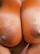 Watch shanti get her huge brown titties creamed on