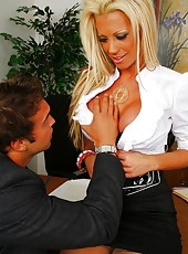 Amazing sexy big tits blonde tanja gets her sweet pussy pounded hard in these hot cock riding and cumshot office fucking video and pics