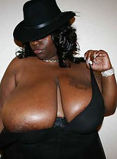 Massive boobs on ebony babe