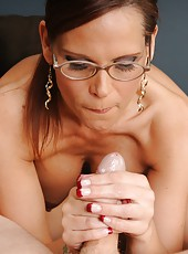 Syren Demar Cum Crazed Mom from Over40handjobs