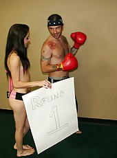 Johnny needs some quick cock relief before his big fight, and no one is better than the sexy ring girl Allison Banks