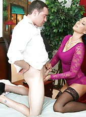 Zoe Holloway makes cock explode with her hand