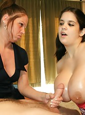 mom forces teen to titty fuck