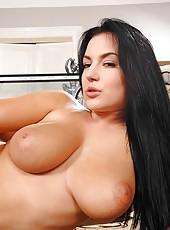Hot busty Carmen Croft titty fucked