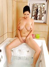 Shione Cooper soloing in bathroom
