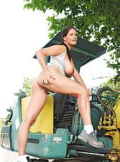 Rebecca Jessop gets naked at work