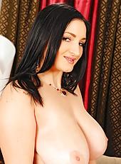 Hot busty whore Kasandra stripping