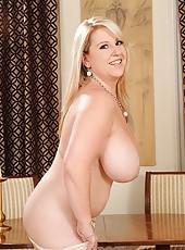 Janne Hollan presents her big tits