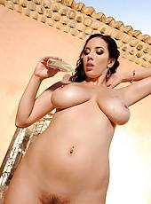 Jelena Jensen poses in hot lingerie
