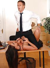 Emma Butt gets her big tits bounced