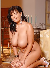 Jasmine Black licking her huge tits
