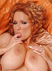 Hot big boobed lesbians toy banging