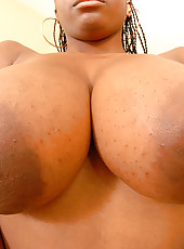 Check out this hot big tits ebony babe masturbate and get fucked in these hot soapy real amateur pics