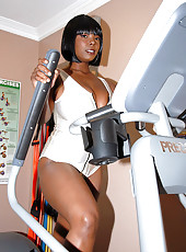 Super stacked big titty babe gets her hot fucking ass and tits drilled hard in these hot fucking gym pics