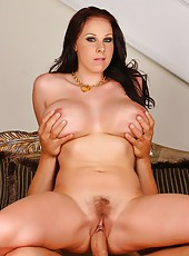 Horny big tits gianna takes a load in her mouth after geting drilled hard in these hot pics