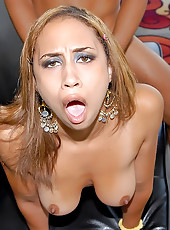 Watch this hot big tits babe get her tittys fucked with a hulk action figure then get her box pounded by a big dong