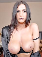 Annanikova gets her huge round tittes covered in cream