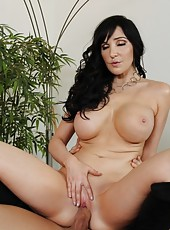 Hot busty brunette MILF gets her big tits bouncing as she is fucked by a younger cock.