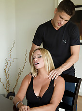 Briana Banks is stressed and gets some relief by fucking one of her son