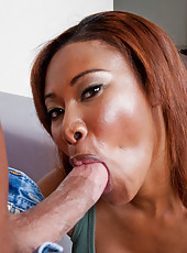 Jessica Dawn fucks and sucks a hard cock.