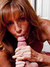 Tara Holiday sucks and fucks a huge cock.