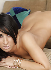Hot brunette babe decides to seduces married guy and suck and ride his thick big cock.