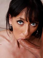 Horny Alia Janine fucks and sucks a hard dick.
