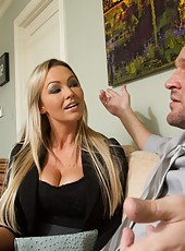 Busty blonde MILF gets her bills paid by fucking her sugar daddy.