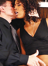 Gorgeous ebony MILF Misty Stone meets with her sugar daddy for a nice fucking and to get her allowance.