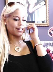 Busty blonde MILF Bridgette B meets her sugar daddy after shopping and has hot sex with him.