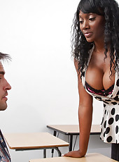 Sexy Nyomi Banxxx goes crazy fucking and sucking a big dick.