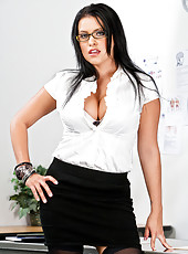 Lacie James student teachers her a thing or two about fucking and sucking a big dick.