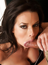 Busty gorgeous mom Veronica Avluv has hot sex with big cocked friend of her son.