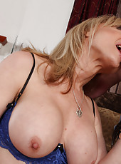 Hot mom Nina Hartley has rough sex with one of her sons friend.