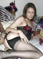 Wild kinky tattooed amateur MILF