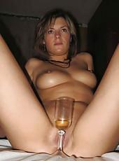 Kinky horny wild amateur housewives