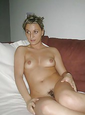 Naked wife in sleazy photoshoot