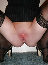 Sexy wife in her black lingerie