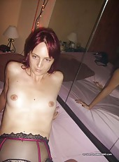 Wild horny amateur naughty housewife