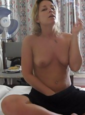 Horny naked naughty cocksucking MILF