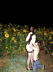 Wild wife hot with hubby outdoors