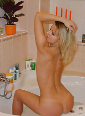 Horny wife in a motel room