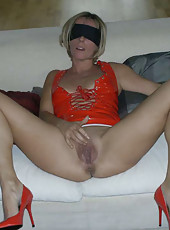 MILF in a wild sex party
