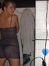 Kinky MILF posing nude