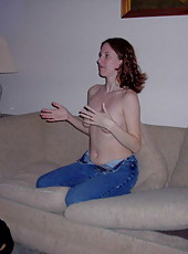Wife gets banged by hubby on sofa